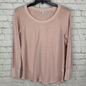 James Perse Slub Knit Blush Pink Top